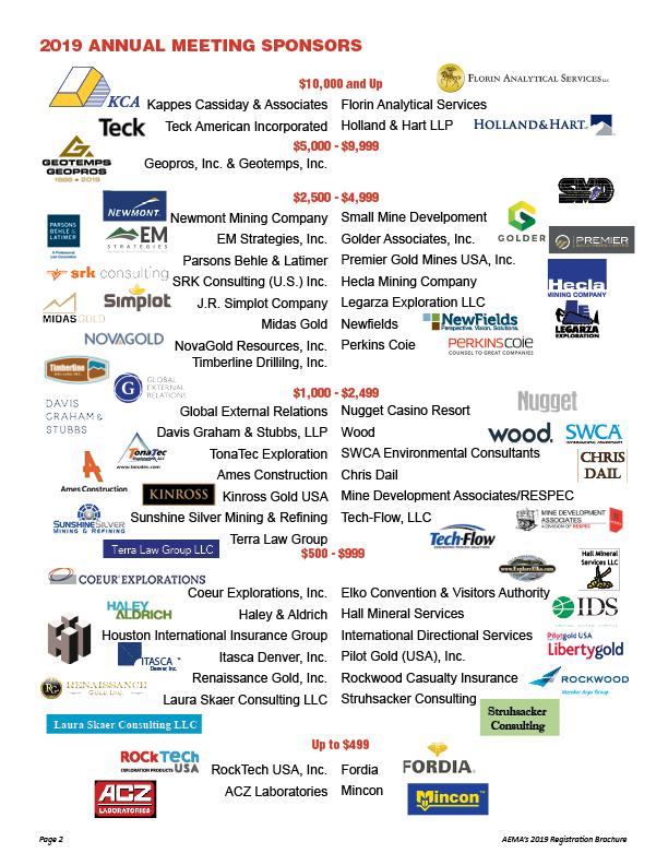 2019 AEMA Annual Meeting – American Exploration & Mining